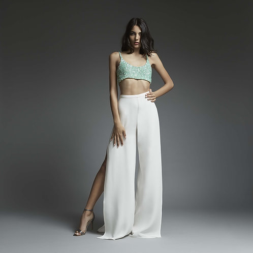 Palazzo Trousers with side splits