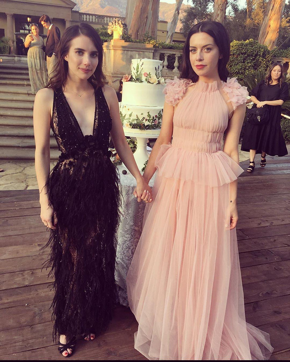Emma Roberts In Gretel Z Couture Embellished Dress