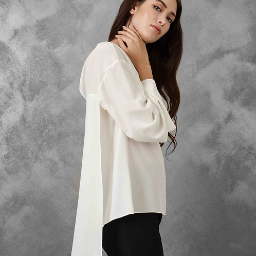 WHITE SOFT SHIRT WITH PANEL