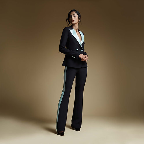Contrasting side band Trousers