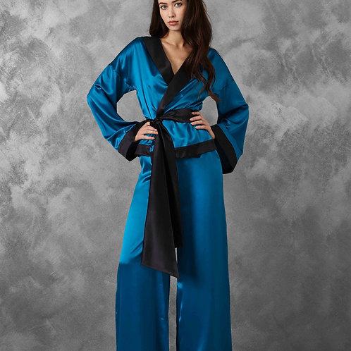 Blue Kimono Pajamas
