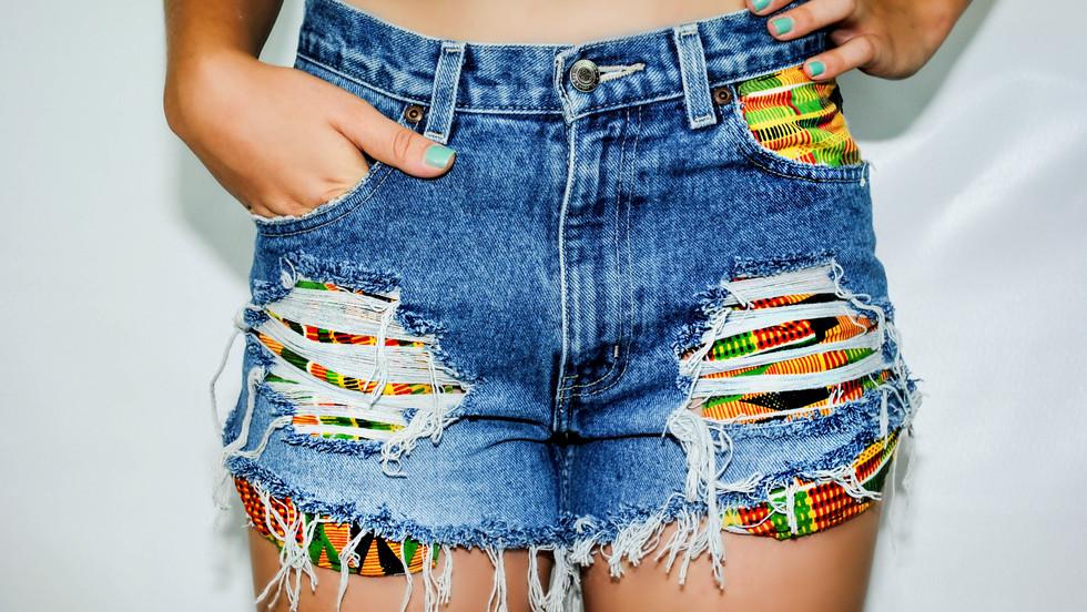 ByOgochukwu 2014 Kente Shorts