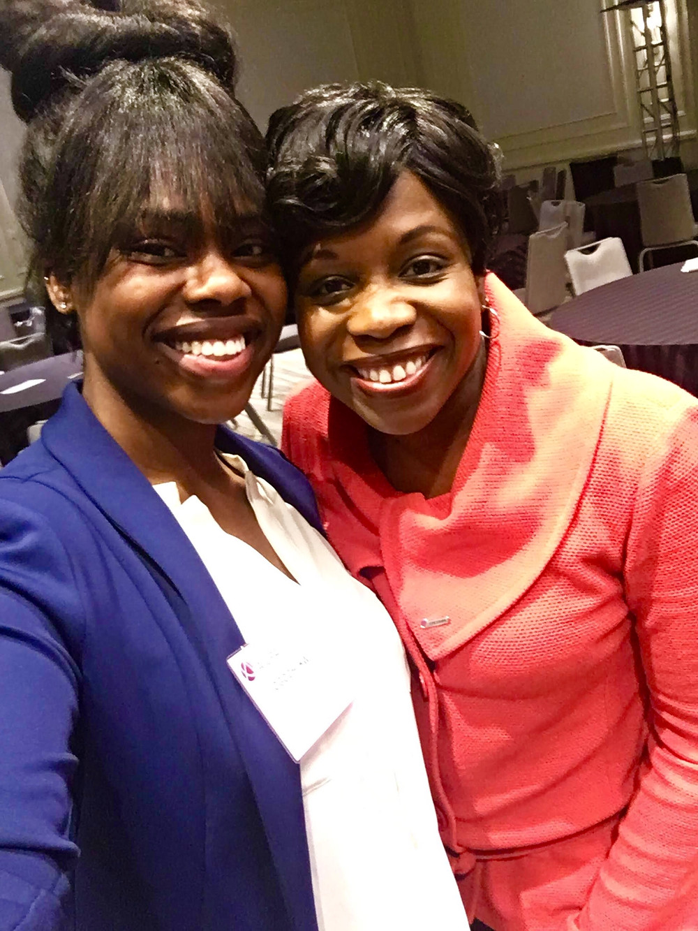 Ogo pictured with Ms. Ellison