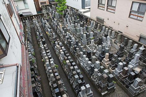 境内墓地 全景