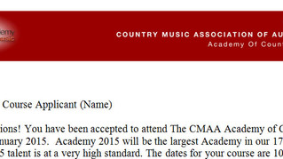 CMAA Country Music Academy Acceptance!