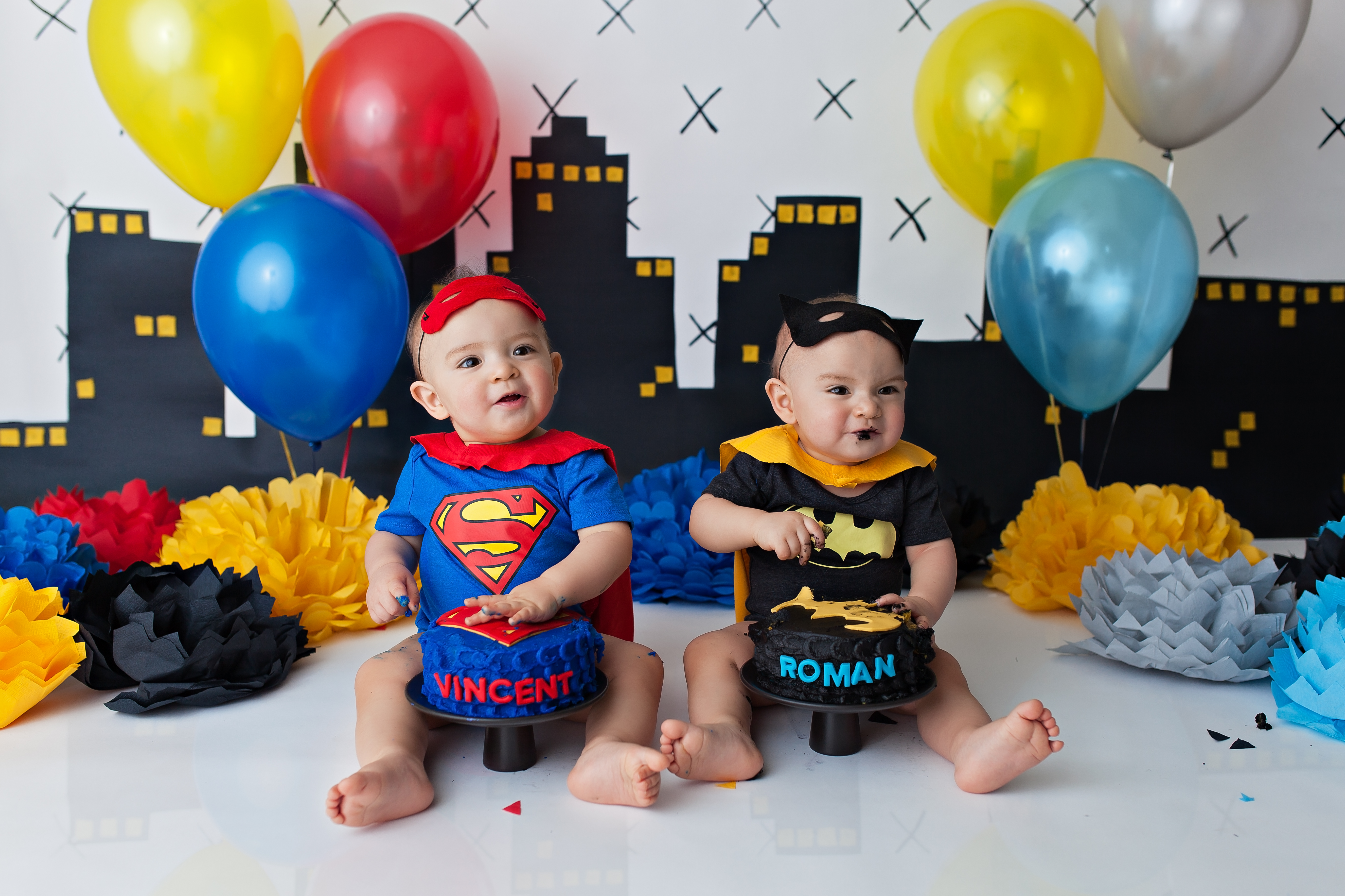 baby superman and baby batman
