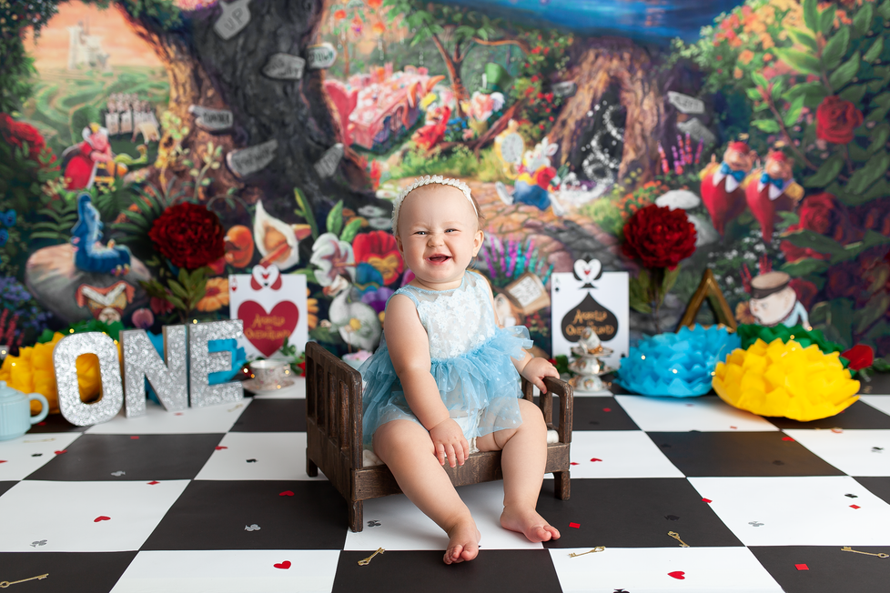 ALICE IN ONEDERLAND | HAMILTON ONTARIO CAKE SMASH SESSION | PHOTOGRAPHER IN HAMILTON ON
