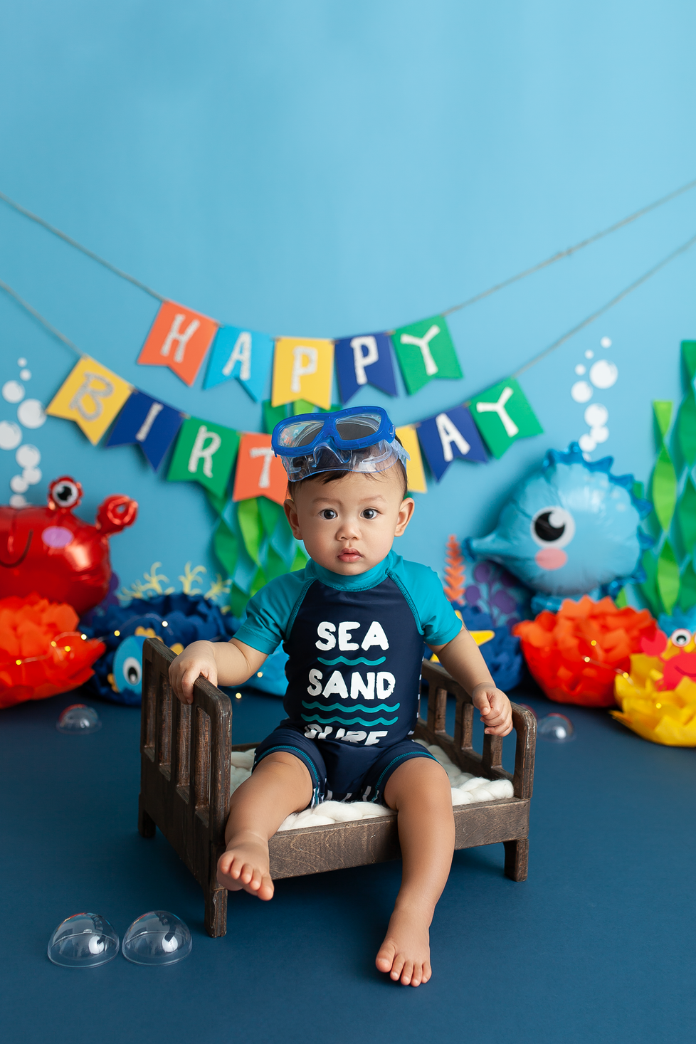 UNDER THE SEA CAKE SMASH SESSION | HAMILTON ONTARIO CAKE SMASH SESSION | PHOTOGRAPHER IN HAMILTON ON