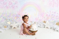 rainbow cake smash