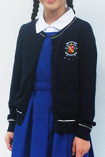 (Pre-Order) School Crest Embroidery Cotton Cardigan
