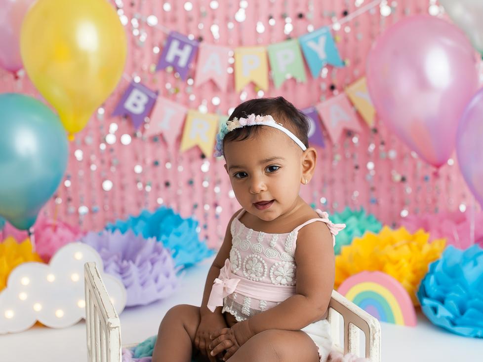 RAINBOW CAKE SMASH SESSION   HAMILTON ONTARIO CAKE SMASH SESSION   CHILD PHOTOGRAPHER IN HAMILTON ON