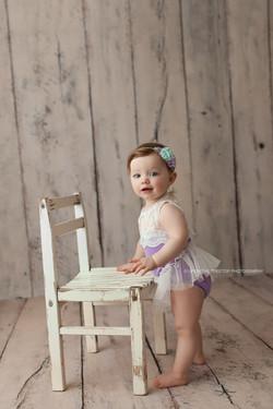 baby gir standing