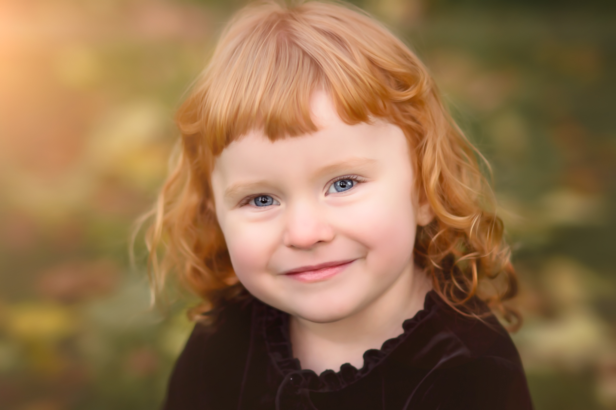 red head girl smiling