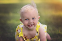 baby girl in the sun