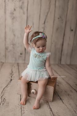 baby girl on drawer