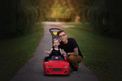 baby in push car
