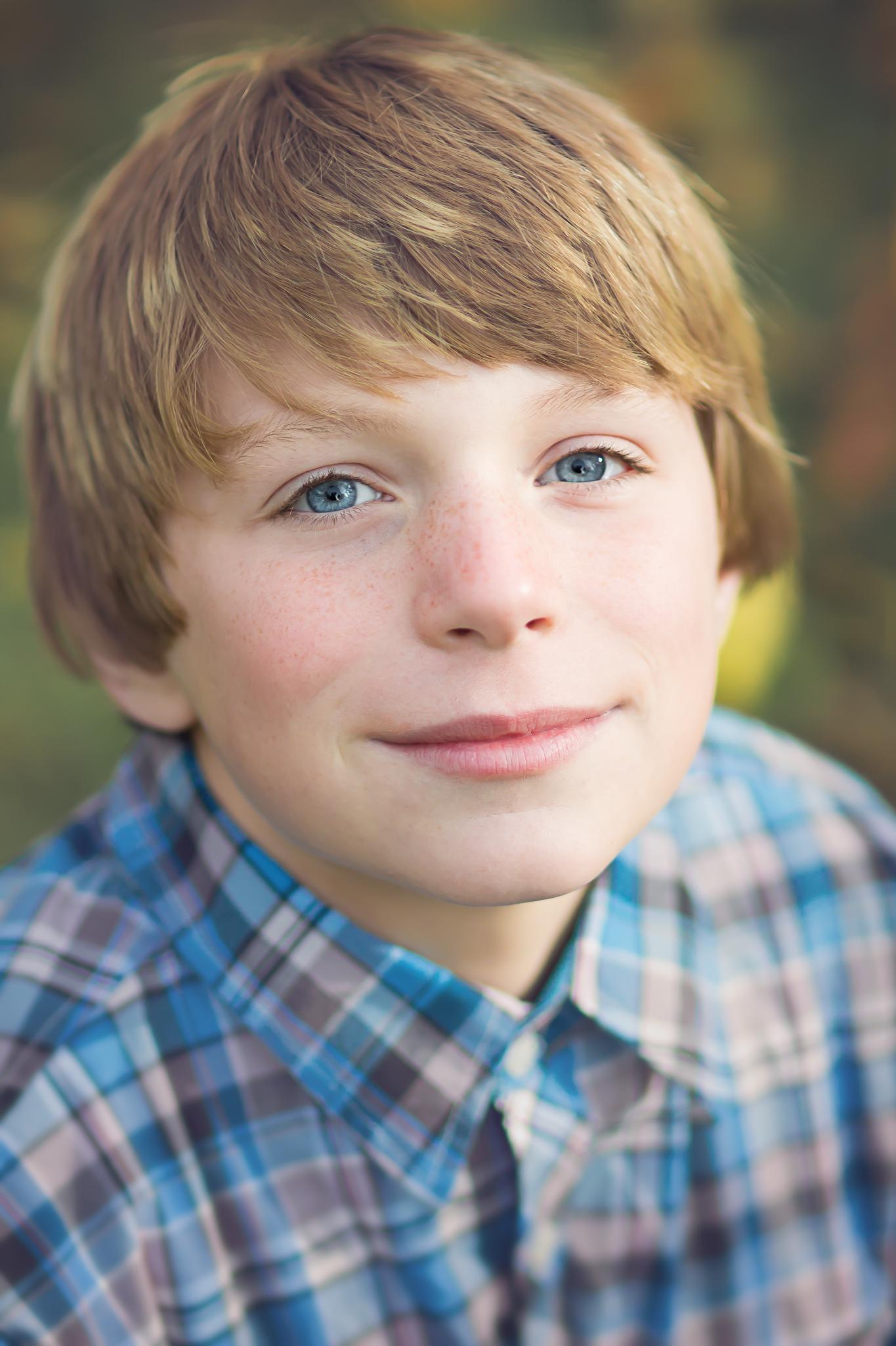boy smiling headshot