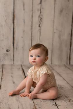 baby on white wood