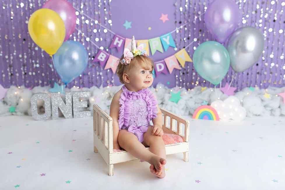 UNICORN CAKE SMASH SESSION | HAMILTON ONTARIO CAKE SMASH SESSION | PHOTOGRAPHER IN HAMILTON ON