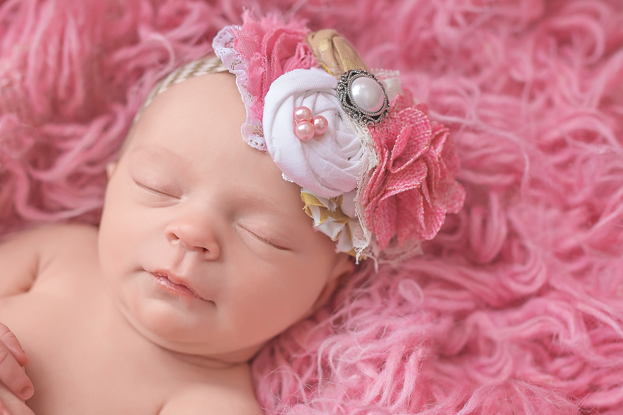 baby with big headband