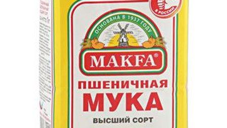 Мука пшеничная MAKFA высший сорт, 1 кг