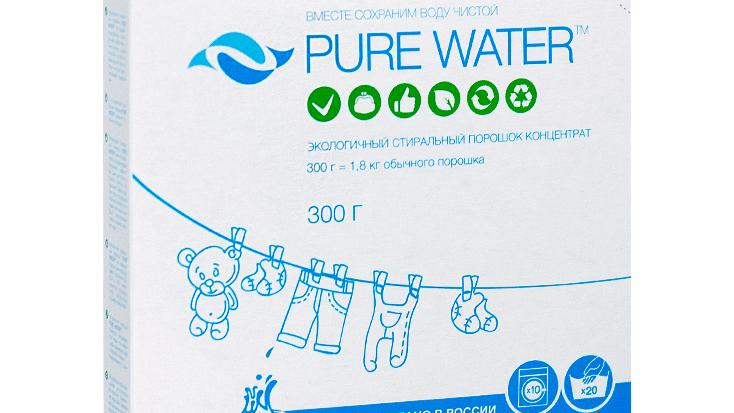 Натуральный стиральный порошок PURE WATERТМ