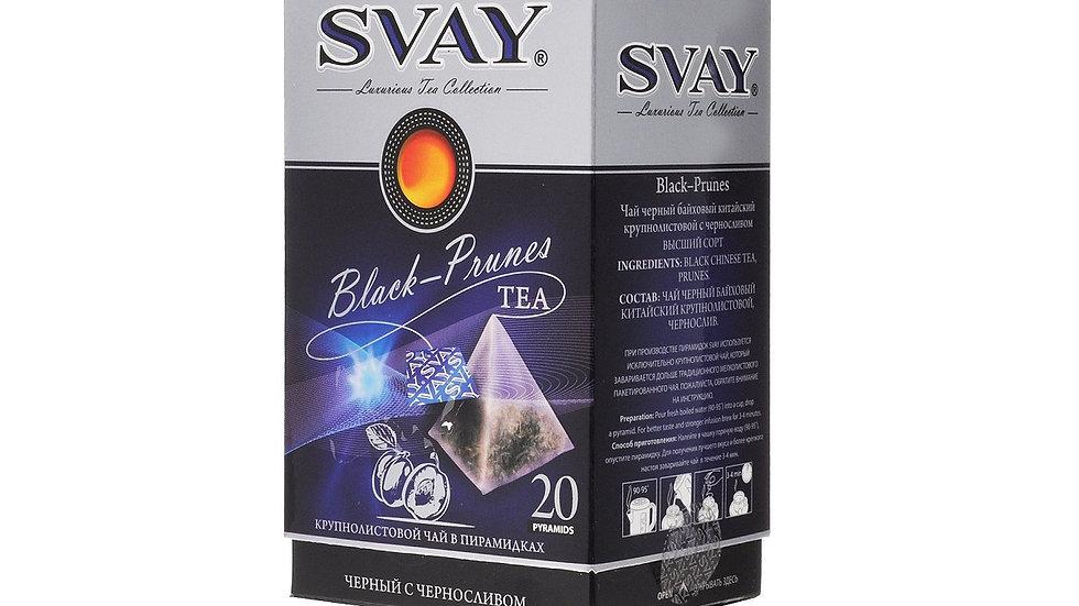Черный чай SVAY с черносливом