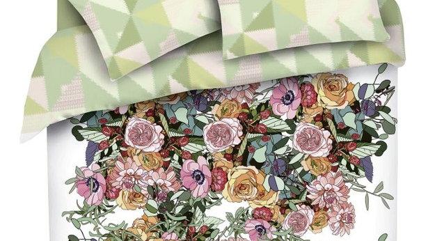 Комплект постельного белья Mona Liza Premium Atelier 4 Seasons 2 сп сатин многоц