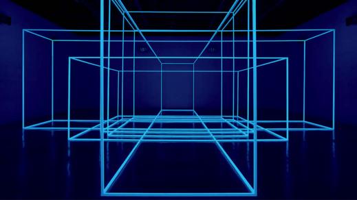 Breathing RoomIV(2012): Tubos de alumínio de 25x 25, fósforo H15 e junções plásticas 360 x 384 x 767 cm