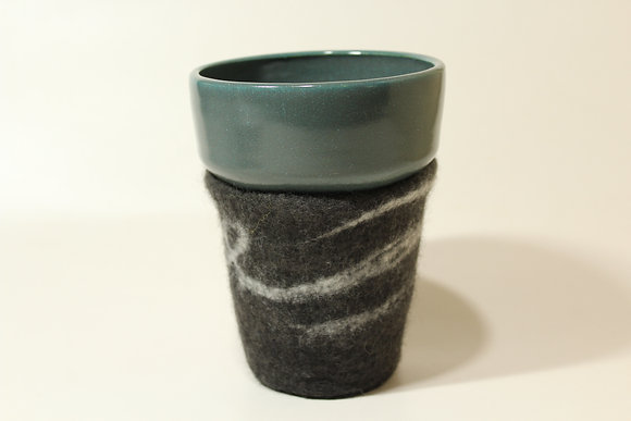 Black and Grey Cozy Mug
