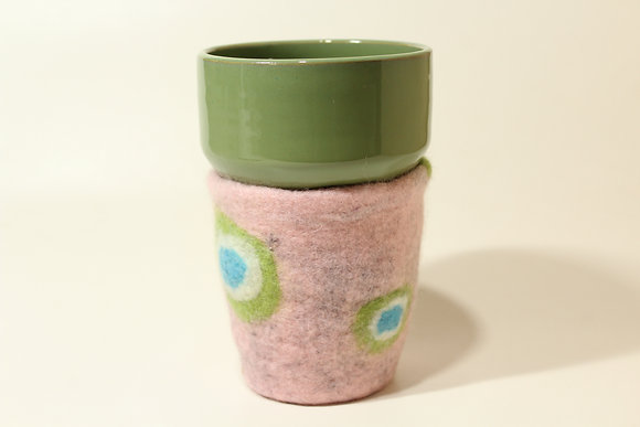 Green & Pink Cozy Mug
