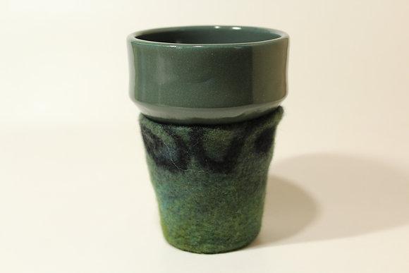 Bluegreen & Black Cozy Mug