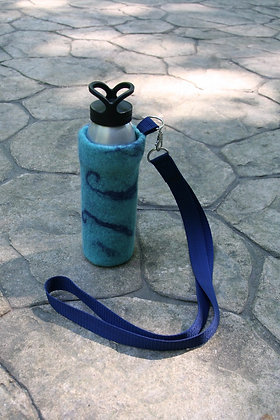 Navy Swirls Water Bottle Cover