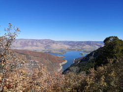 Pineview Reservoir from Sardine Peak Tra