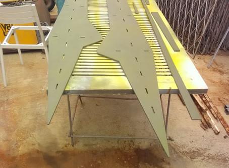 Fabricação da quilha e ferragens inox