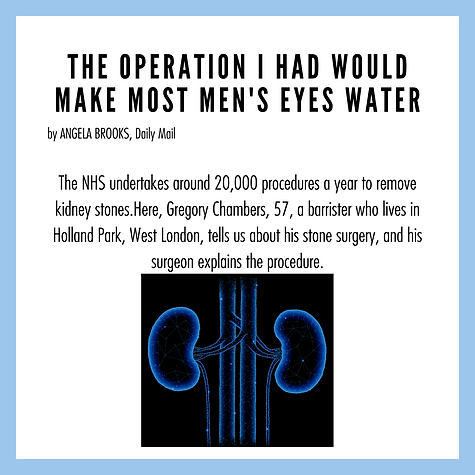 The operation I had would make most men'