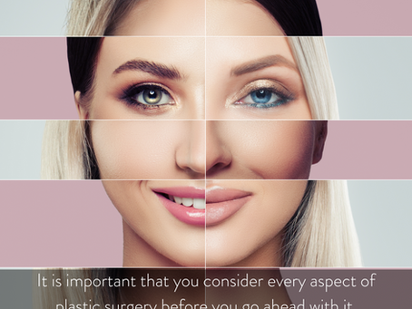 What do you need to think about before you consider plastic surgery?