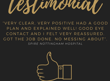 A patient testimonial from Spire Nottingham Hospital.