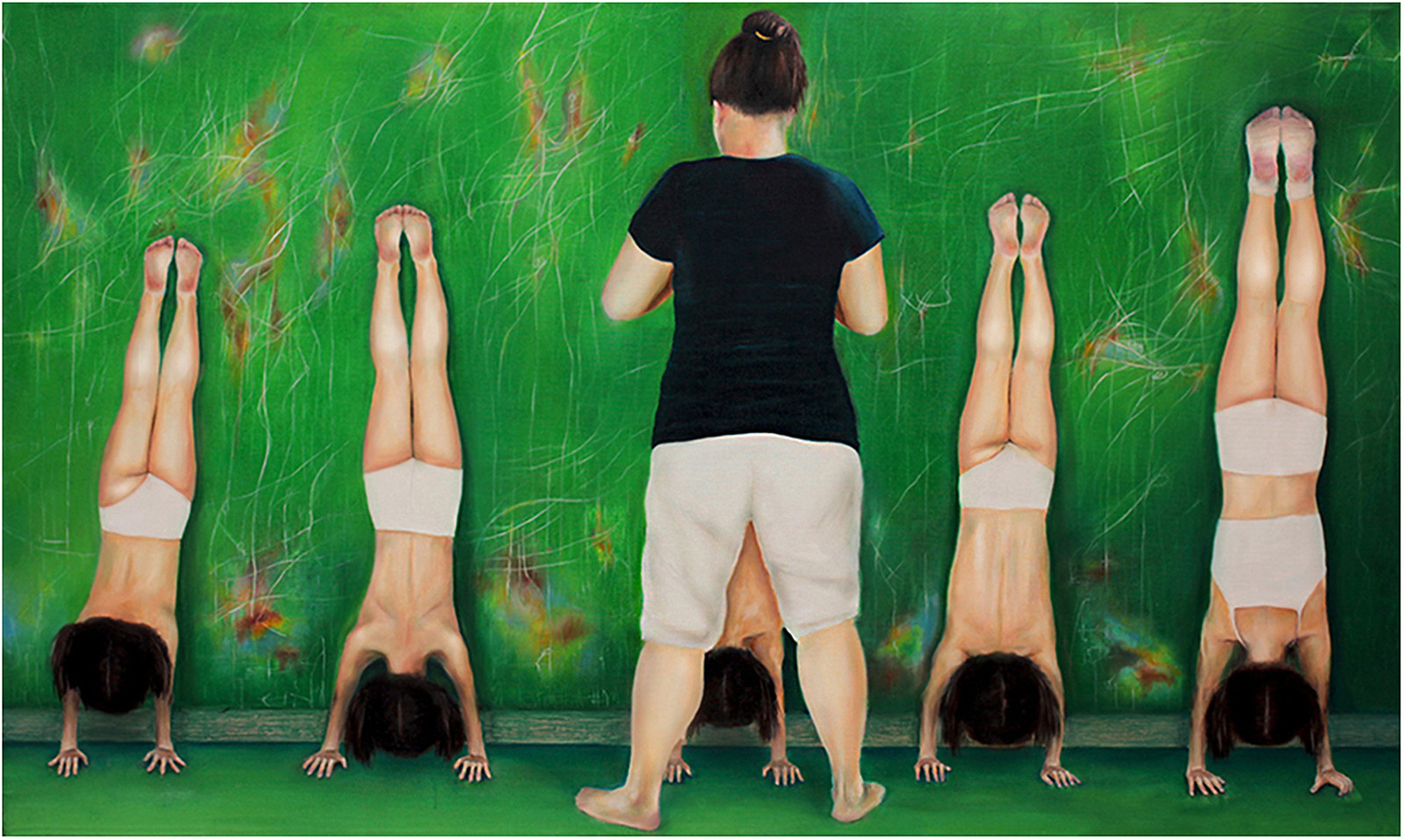 Synchronized handstand