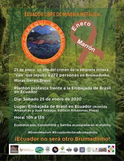 Equador no sera otro Brumadinho