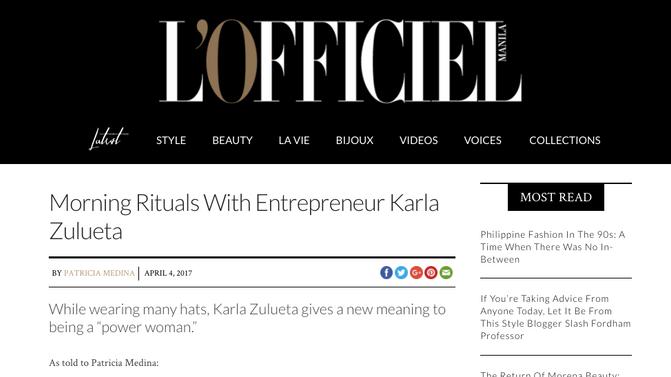 L'Officiel Online Feature