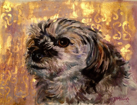 Little Dog Gold Backround