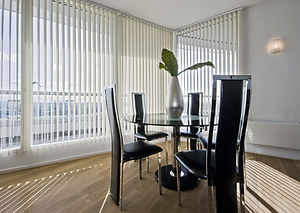 stylish modern dining room with a round
