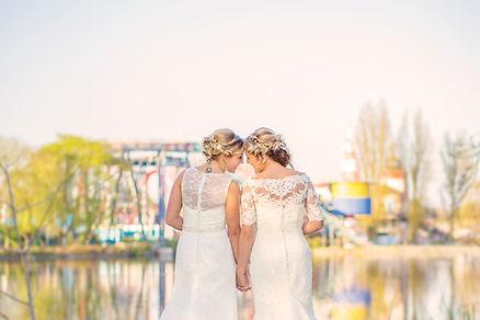 Drayton Manor Theme Park Wedding Photgraphy, Same Sex Wedding, Lesbian Wedding, Gay Wedding, Equality Wins UK,