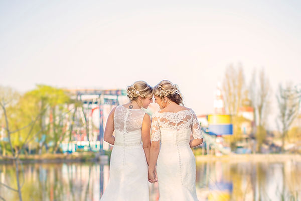 Drayton Manor Theme Park Wedding Photgraphy, Same Sex Wedding, Lesbian Wedding, Gay Wedding, Equality Wins UK,