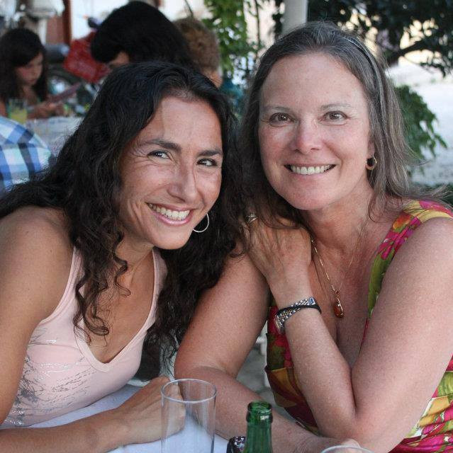 Carolyn Forche and me on Thasos.