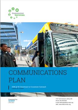 Communications Plan / Proposal for MNDot