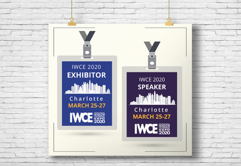 IWCE 2020 badges