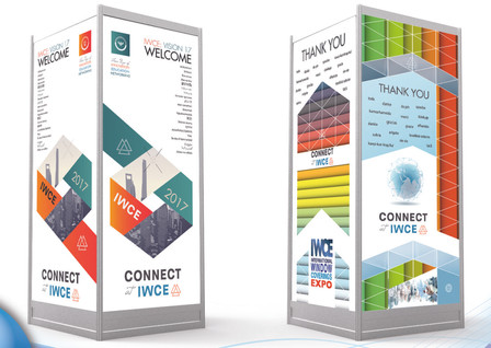 IWCE 2017 trade show towers