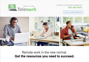 Design and develop logo, website and promotional materials for Twin Cities Telework